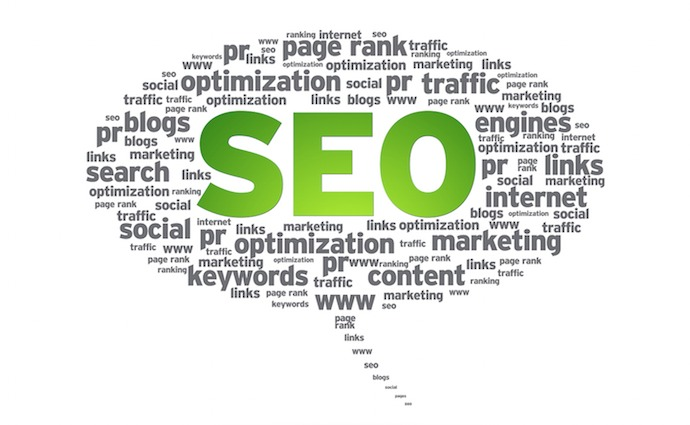 Search Engine Optimization Word Cloud